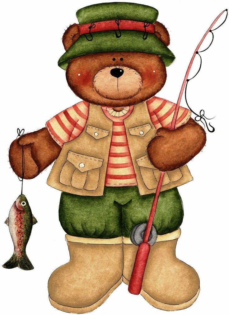 OSOS Y MESES | Bear crafts, Bear fishing, Clip art