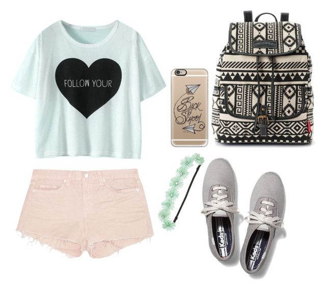 """""""Back to school"""" by camigy on Polyvore featuring J Brand, Keds, UNIONBAY, Casetify and maurices"""