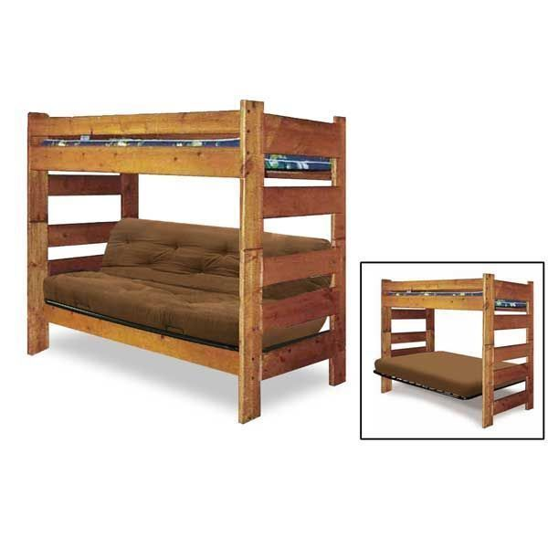 bunkhouse twin full futon bunk by trendwood usa is now