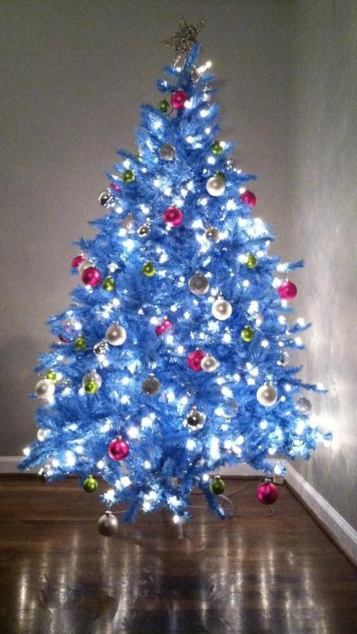 baby blue christmas tree - Blue Christmas Trees