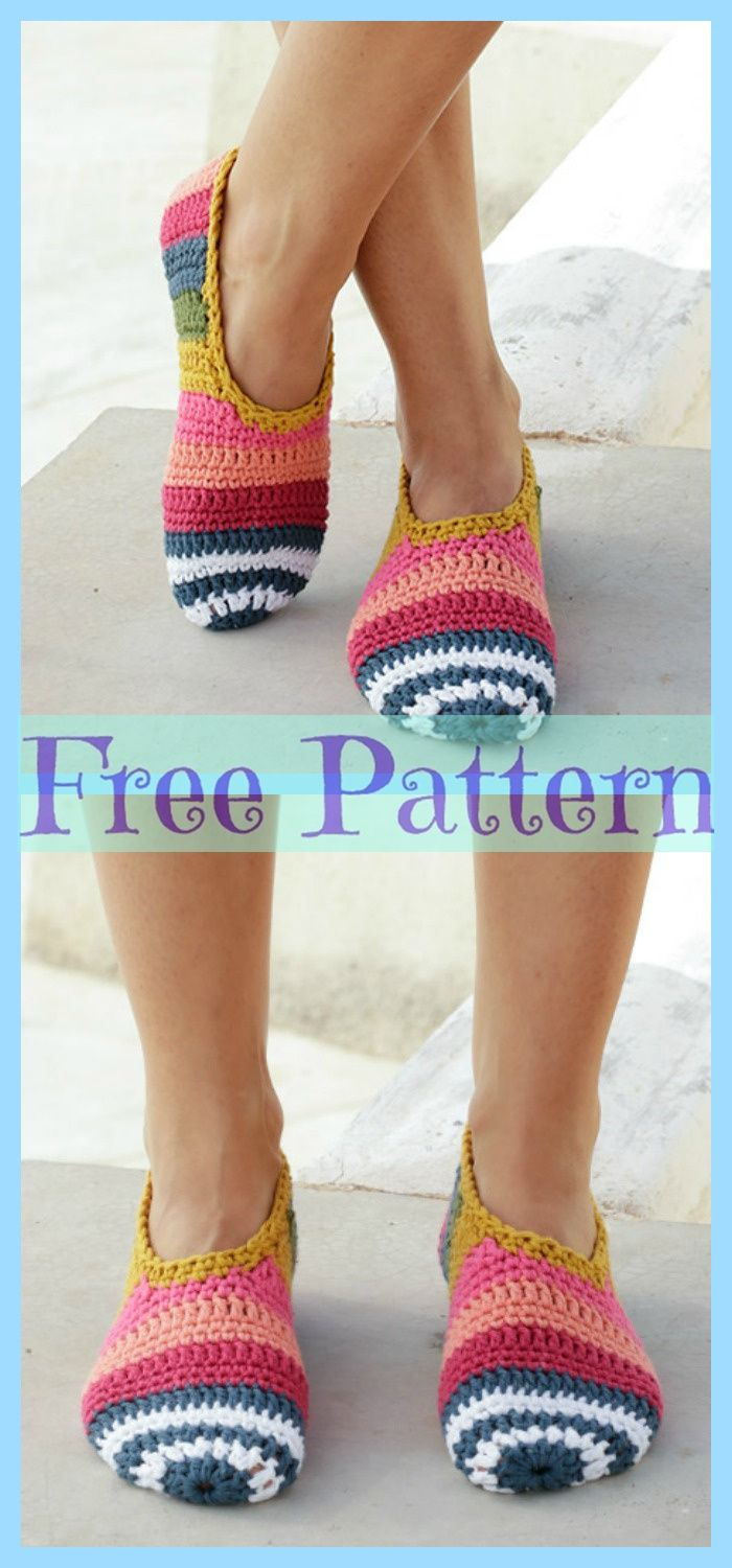 Easy Crochet Slippers – Free Patterns