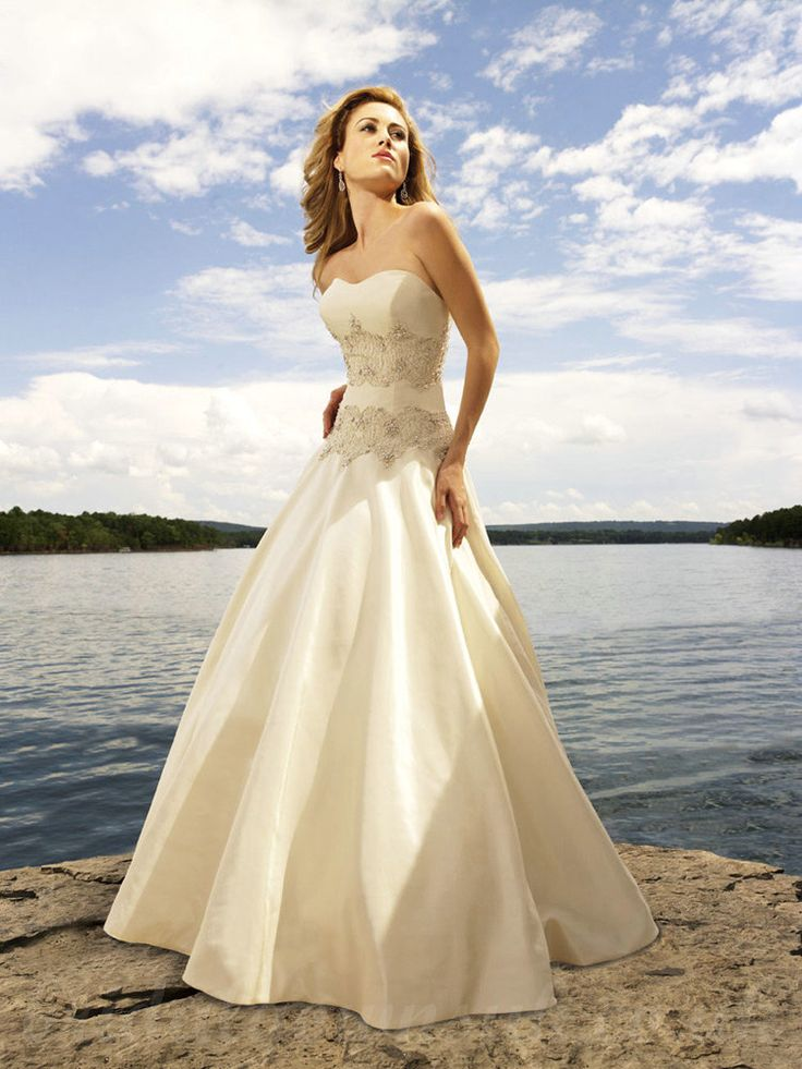 76 best Beach Wedding Dresses images on Pinterest | Hochzeitskleider ...