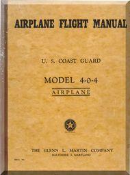 Glenn Martin 404 Flight  Manual US Cost Guard 1958