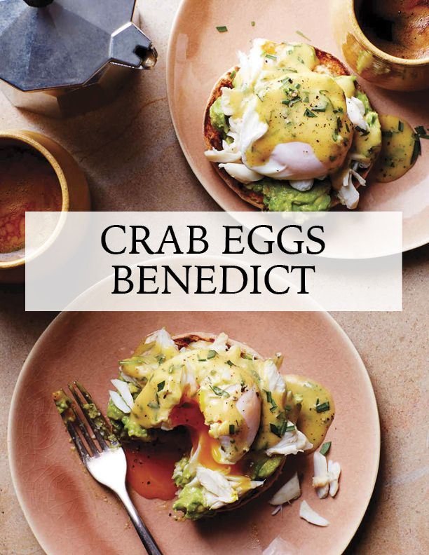 Crab-and-Avocado Eggs Benedict | Martha Stewart Living - Hollandaise is what happens when egg yolks and melted butter come together in an indulgent sauce: Make it with brown butter and drizzle it over sweet crabmeat and avocado for a next-level eggs Benedict. Cook up a double batch, and treat yourself to a dip for raw vegetables or a sandwich spread at lunchtime.