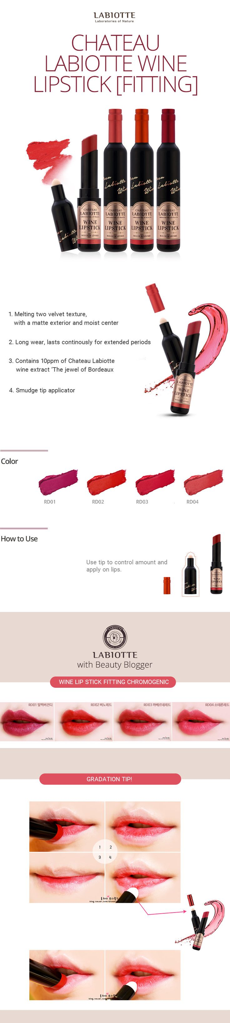 CHATEAU LABIOTTE Lipsticks and Lip tints | Best Korean Beauty Products | Holy Grail | Recommended Cosmetics Lipsticks