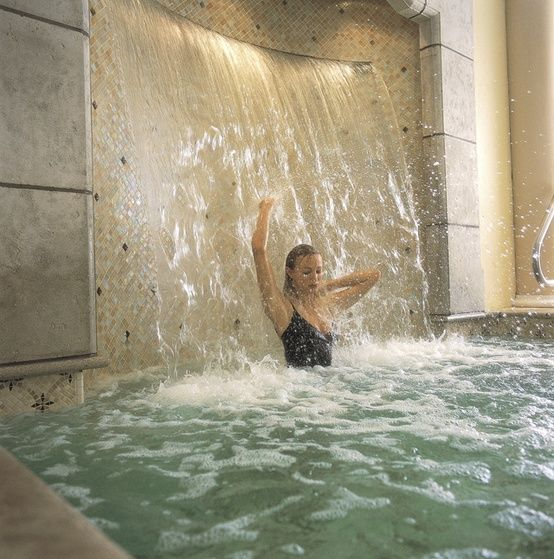 Master bath with waterfall. Um. Okay.