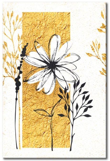 Cartel de chapa Mi casa: Jardín de oro