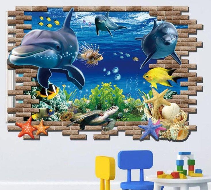 çocuk odası 3d duvar kağıdı tasarımları 2016