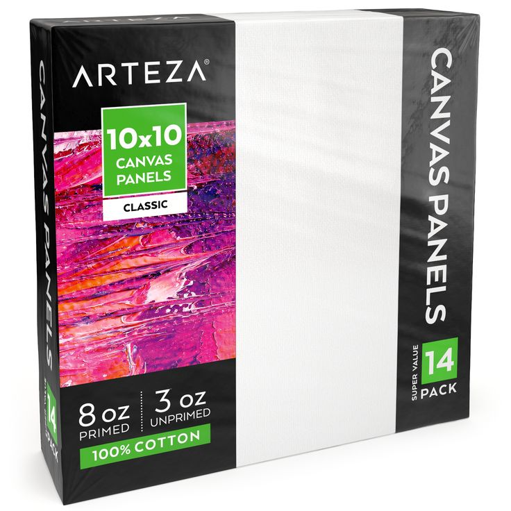 Canvas panel classic 10 x 10 in pack of 14 with