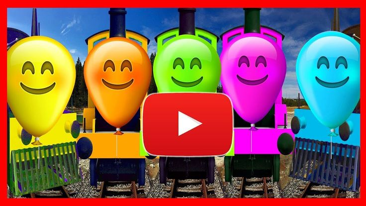 BALLOON TRAIN FINGER FAMILY COLLECTION AND MORE   daddy finger  songs   ...