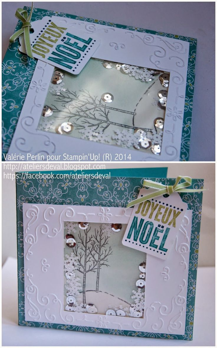 White Christmas and Merry Everything stamp sets - with All is Calm DSP. Les Ateliers de Val