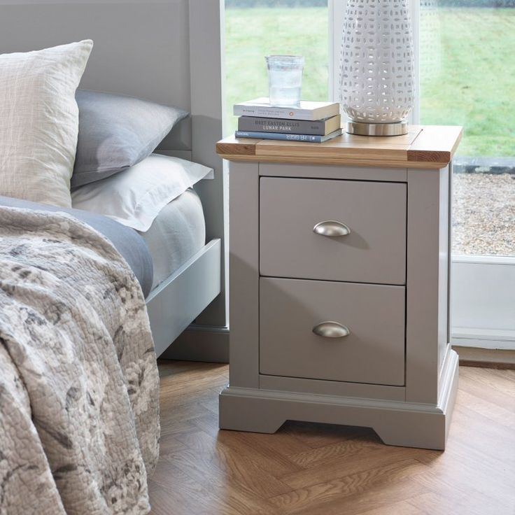 Image result for painted grey bedside cabinet