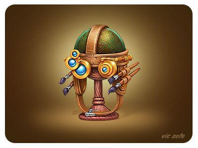Dribbble - Davinci's cap by Victor Soto