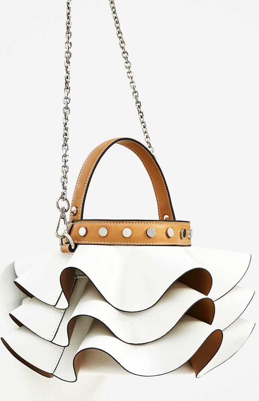 ZARA frilled bucket bag