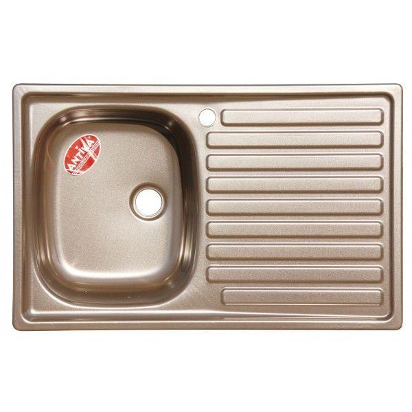 Мойка кухонная стальная подвесная Antika 50х79 левая, коричневая