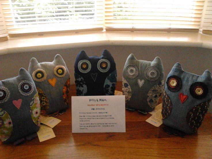 My Betty & Mabel 'Handmade with Happiness' Owls  - made about 20 of them for local craft fair!