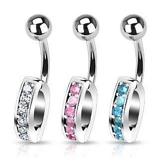 Bauchnabel Piercing mit Kristall für verschiedene Anhänger