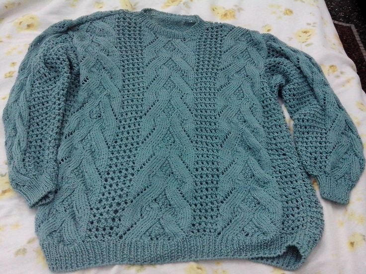 maglione di cotone ai ferri