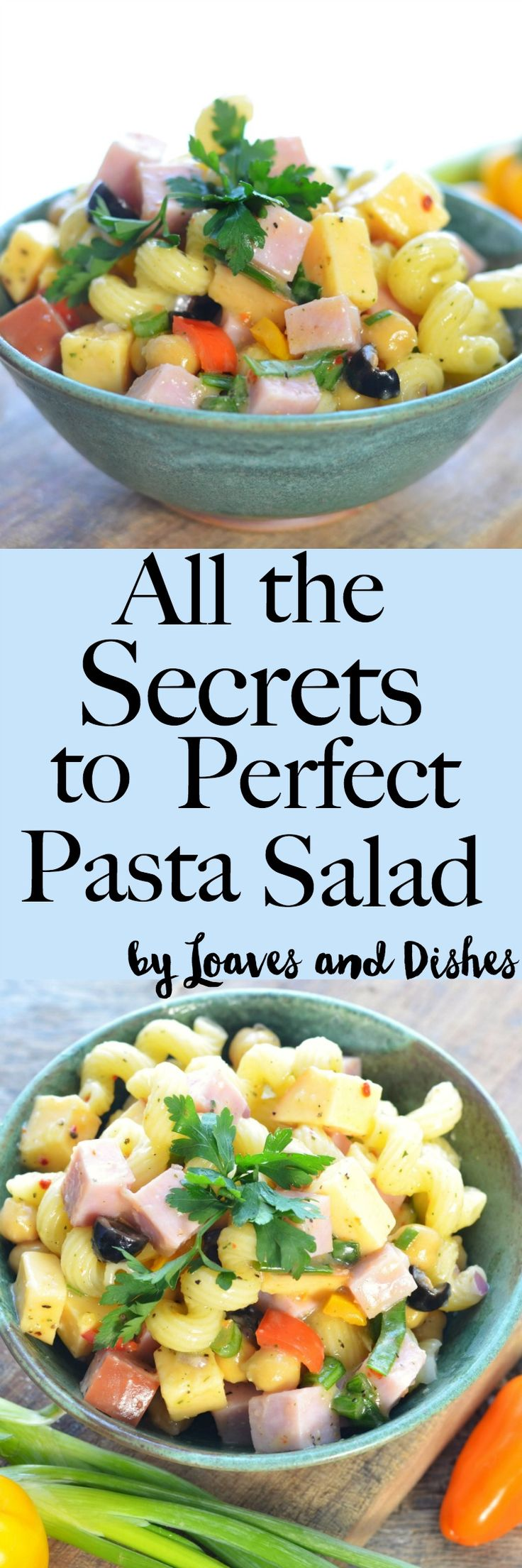 Easy Healthy Greek like Pasta Salad made with whatever you have or WANT!  Creamy, Ranch, Classic, cold, caprese or any summer pasta salad you can dream up. Try Mediterranean, mexican, vegan - they are all in your reach with this how to post.