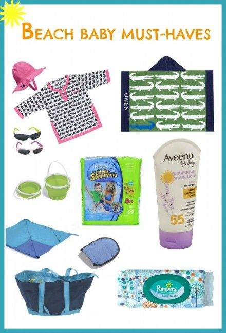 This is a great list and advice one what to pack when you take your baby to the beach.