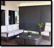 Wire Guide Blinds  Fantastic for your decking area!  Outdoor Shade Blinds Perth Australia  Bozzy Shade Blinds