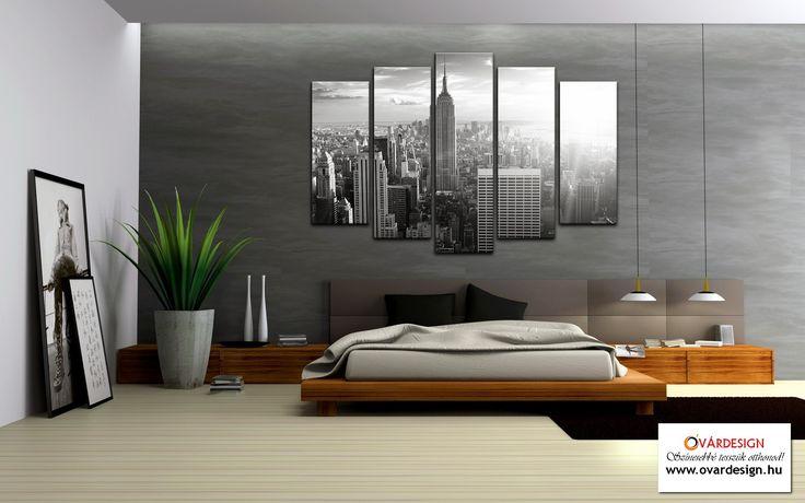 Mit szólnál egy ilyen szobához? Metropolis 5 részes modern vászonképek. Gyönyörű nagyvárosi látképek teszik igazán hangulatossá az otthonod. Óvárdesign vászonkép webáruház