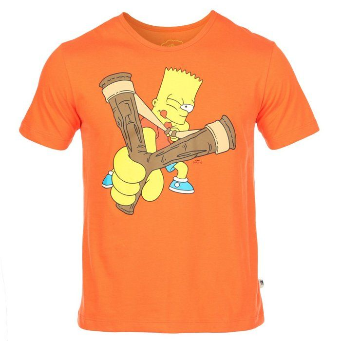 Camiseta Cavalera The Simpsons Laranja | Camiseteca