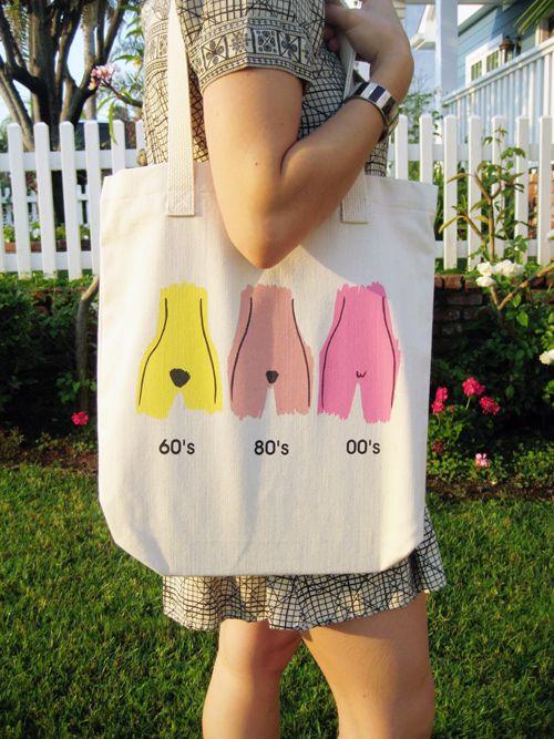tote bag Evolution of the Muff Tote Bag