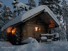 Sauna on a cold winters night