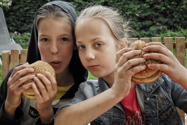 Hamburger made by Two Young Ladies