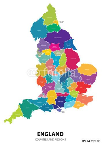 19 best best free vector maps illustrator ai eps images on pinterest best england map vector with colored regions illustration map maps england gumiabroncs Images