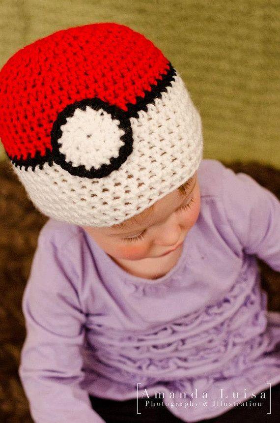 Crochet Pokemon Hat Crochet Pokeball Hat Gotta by TheFuzzyStitch