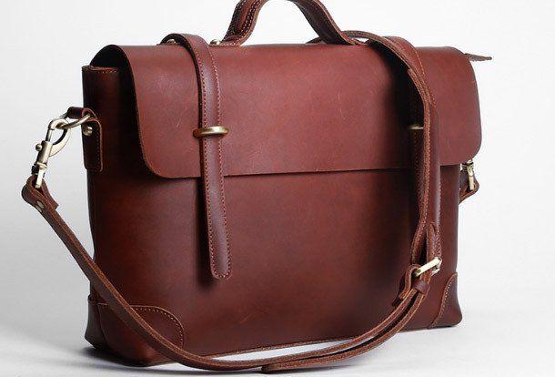 Handmade leather men Briefcase messenger large vintage shoulder laptop | EverHandmade