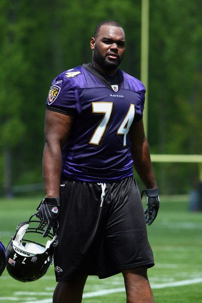 GREAT PIC Offensive lineman Michael Oher #74 of the Baltimore Ravens