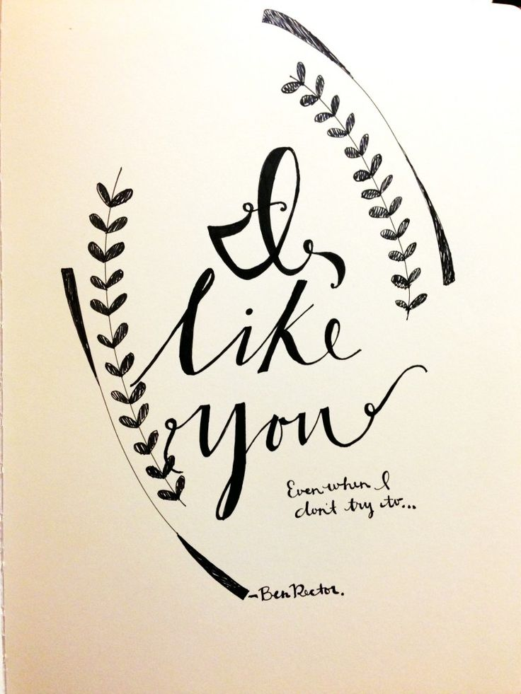 "Ben Rector ""I like you"" #CheraArt"