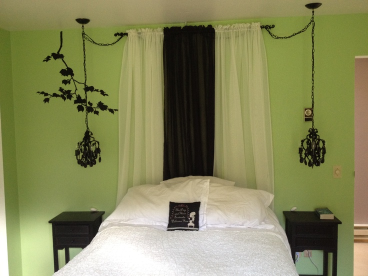 14 best images about bedroom ideas on pinterest black Green and black bedroom