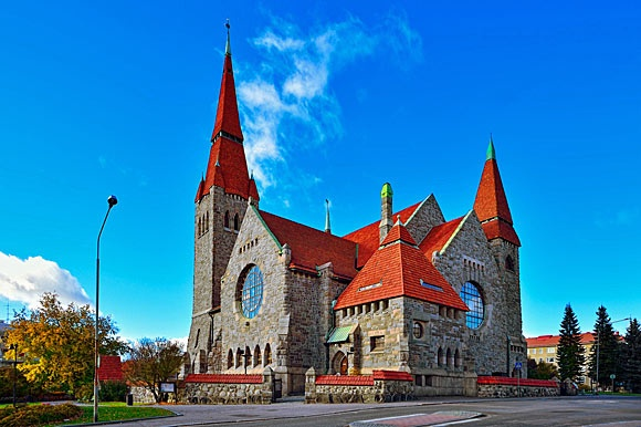 Colorful church in Tampere Finland