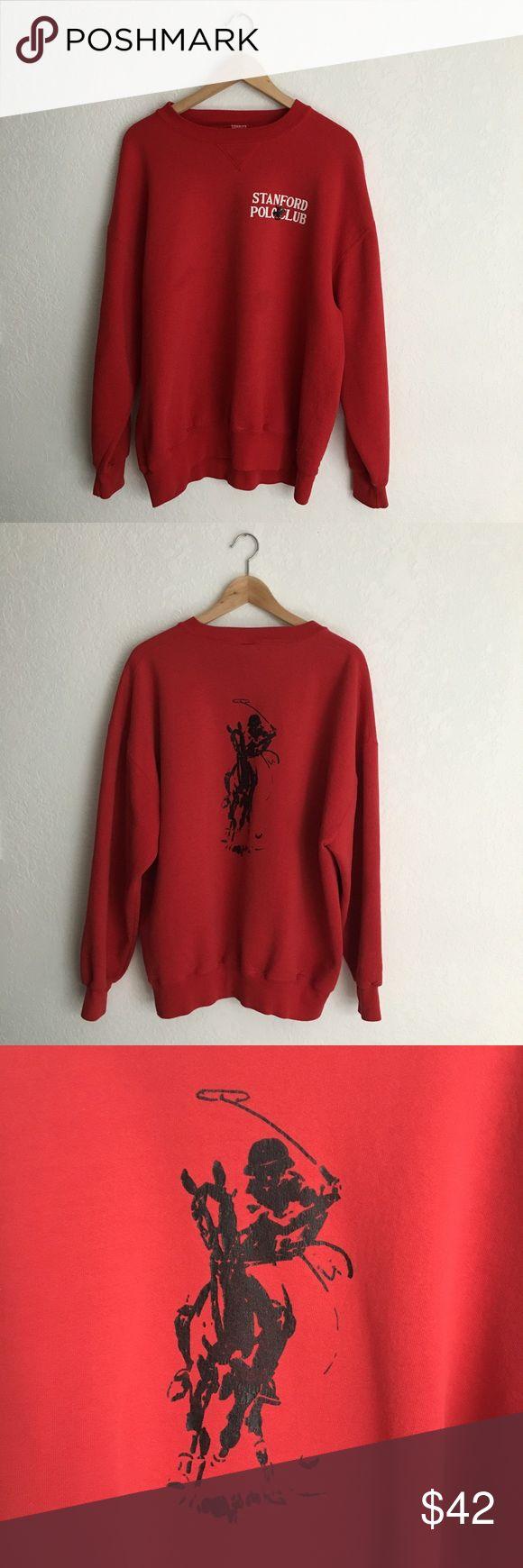 "Vintage Stanford Polo Club Sweatshirt Great comfy crewneck sweatshirt. Good vintage shape. Tag size XL. Best for ladies S/M. 25"" across chest, 25"" length from shoulder. Vintage Tops Sweatshirts & Hoodies"