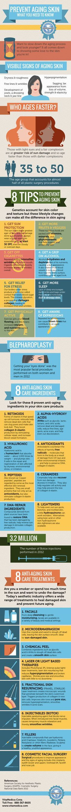 Infographic: Prevent Aging Skin What You Need To Know @stylexpert