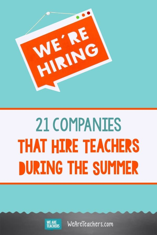 30 Summer Jobs For Teachers From Summer Camps To Delivery Services Jobs For Teachers Summer Jobs For Teachers Summer Jobs