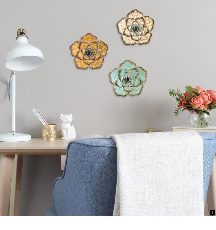 Find More Information On Metal Leaf Wall Art Check The Webpage To Read More The W Metal Flower Wall Decor Rustic Flower Wall Decor Stratton Home Decor