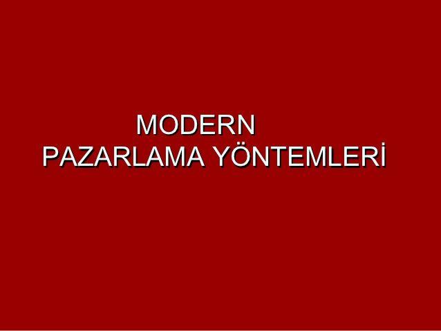9.1. bölüm pazarlama ilkeleri modern pazarlama