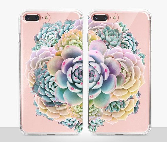 Succulent BFF iPhone 8 Case Clear Case Clear Case For