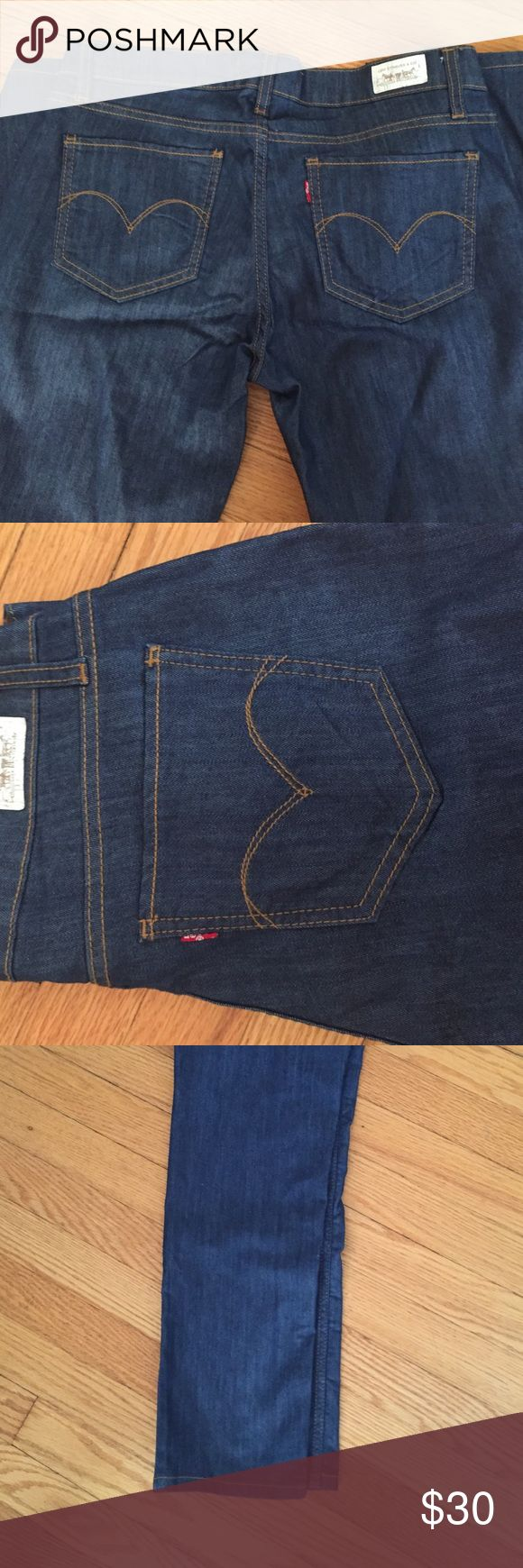 Levis Skinny Jeans NWOT. Dark wash. Never been worn! 524 style Levi's Jeans Skinny