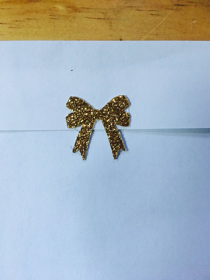 A personal favourite from my Etsy shop https://www.etsy.com/au/listing/517727210/gold-glitter-bow-stickers-invitation