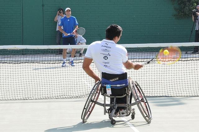 Robinson Méndez y Fernando González en el Wheelchair 2012 - Copa Banco de Chile