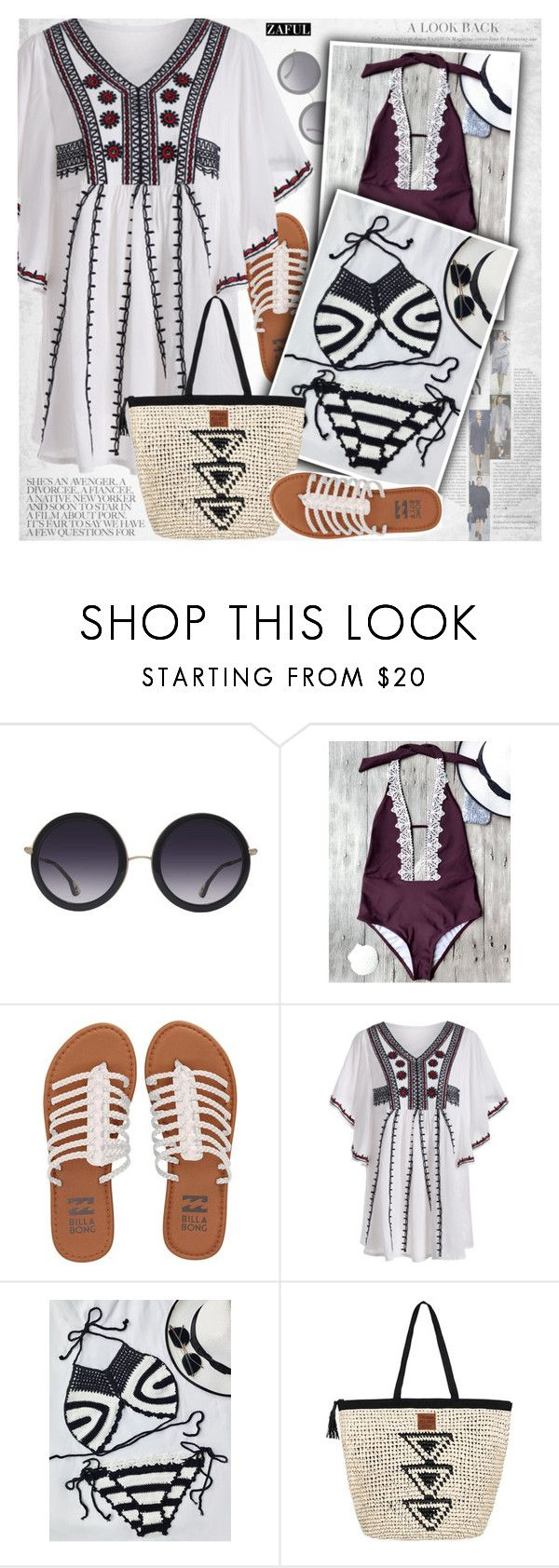 """Crochet bikini"" by vanjazivadinovic ❤ liked on Polyvore featuring Alice + Olivia, Billabong, Roxy, under100, polyvoreeditorial and zaful"