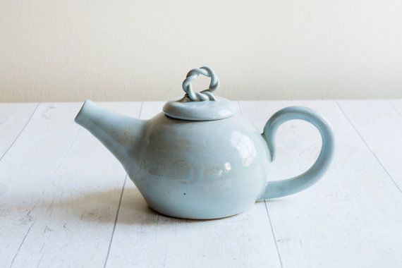 Duck Egg Two Cup Teapot  Made to Order by KaraLeighFord on Etsy