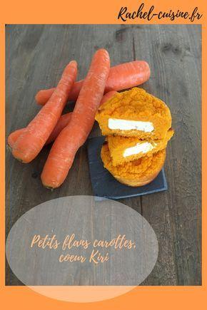 Petits flans carottes, cœur Kiri. Une recette que les enfants adorent, car ils adorent le kiri. Les carottes passent avec le sourire !