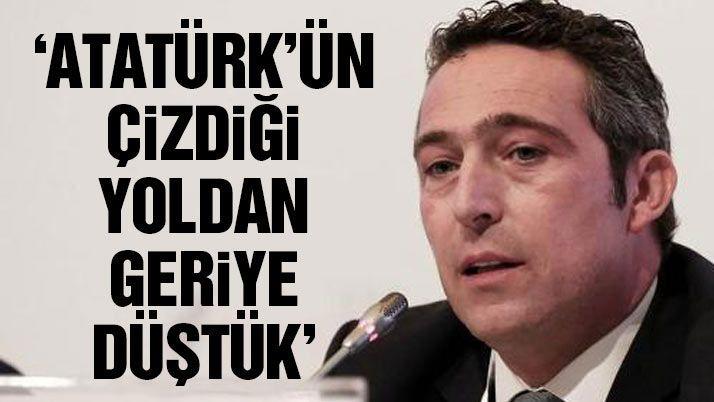 """Koç Holding Yönetim Kurulu Üyesi Ali Koç, Türkiye'nin, pek çok konuda ilerlerken kadın istihdamı konusunda ise ciddi bir gerileme süreci içinde olduğunu söyledi. Kadına şiddet konusunun gözle görülür ve rahatsız edici boyutlara geldiğini kaydeden Koç, """"Mustafa Kemal Atatürk Türkiye'yi kurarken bir yol çizmiş, Sabiha Gökçenler çıkmış. Neden böyle gerilere düştük anlamıyorum"""" dedi. Okuma yazma bilmeyen…"""